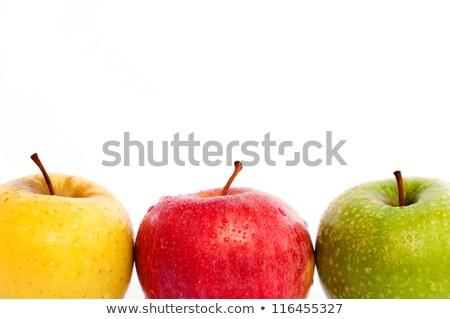 3 ·  · 赤 · 黄色 · リンゴ · 孤立した · 白 - ストックフォト © digifoodstock