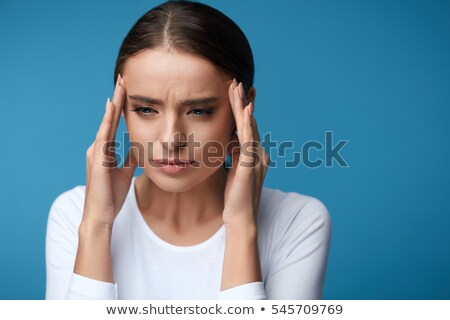 Woman having a strong migraine or stress Stock photo © Nobilior