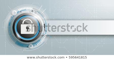 circuit · board · tekst · 3d · render · macro · Blauw - stockfoto © albund