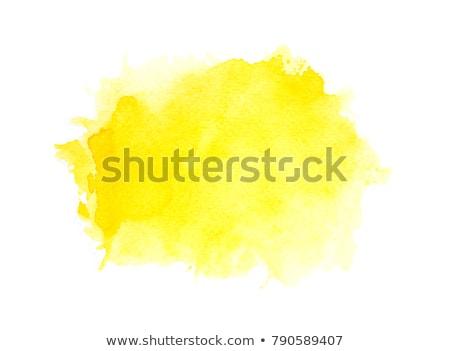 Geel aquarel vlek grunge effect papier Stockfoto © SArts