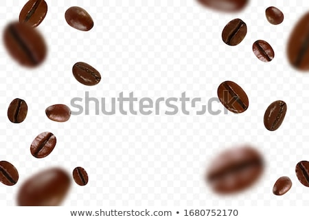 Coffee beans in 3D, vector illustration. stock photo © kup1984