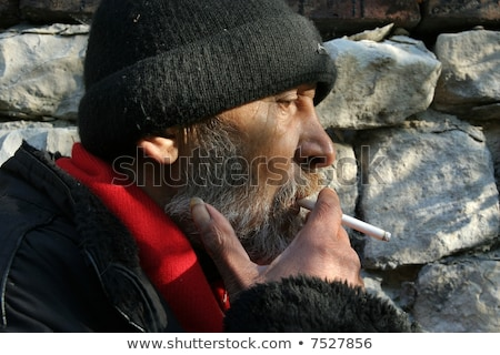 Bum cigarette image homme fumée hommes Photo stock © cteconsulting