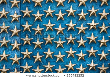 Gold Stars on Wall National World War II Memorial