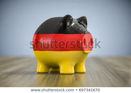 euros · símbolo · bandera · 3d · signo · financiar - foto stock © magann