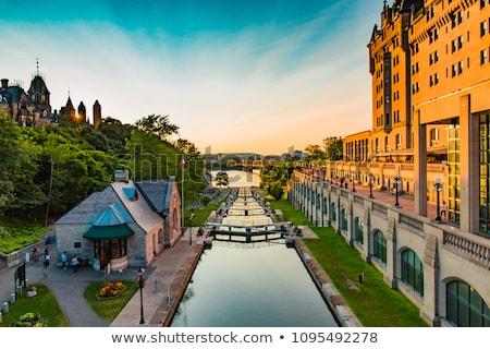 運河 オンタリオ 水 建物 市 壁 ストックフォト © chrisukphoto