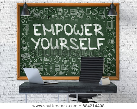 Empower Yourself Concept. Doodle Icons on Chalkboard. Stock photo © tashatuvango