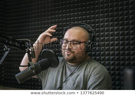 小さな ラジオ ホスト 放送 スタジオ クローズアップ ストックフォト © wavebreak_media