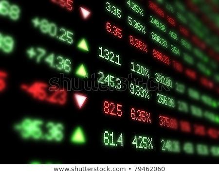Vermelho verde raso negócio Foto stock © danielgilbey