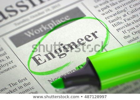 Stock photo: Engineer Job Vacancy. 3D.