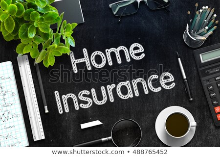 Home Insurance on Black Chalkboard. 3D Rendering. Stock photo © tashatuvango