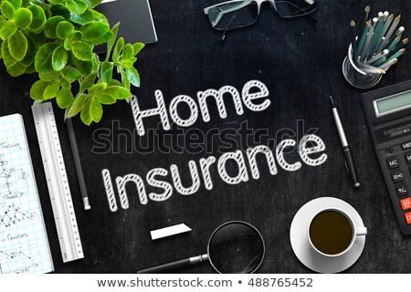 Home Insurance on Black Chalkboard. 3D Rendering. Stock photo © tashatuvango