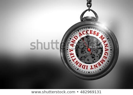 idő · mozgás · zsebóra · arc · 3d · illusztráció · klasszikus - stock fotó © tashatuvango