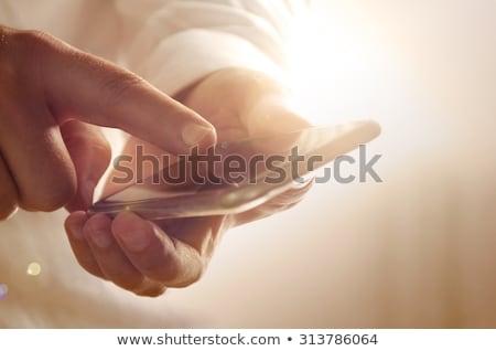 winkelen · online · mobiele · telefoon · kantoor - stockfoto © stevanovicigor
