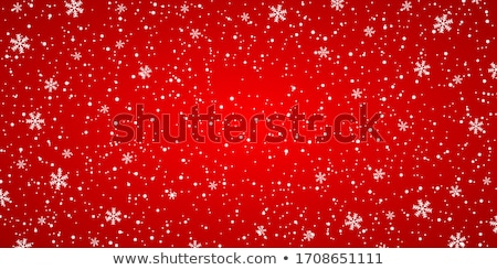 illustration of christmas red background with snowflakes stock photo © SArts