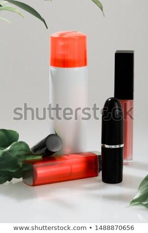 ragyogás · piros · fényes · rúzs · zöld · levél · izolált - stock fotó © caimacanul