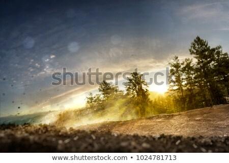 Pyłu rowerów koła utwór niebo sportu Zdjęcia stock © IS2