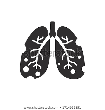 icon of lung disease stock photo © olena