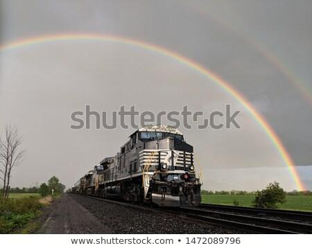 поезд · радуга · детей · верховая · езда · дети · ребенка - Сток-фото © lenm