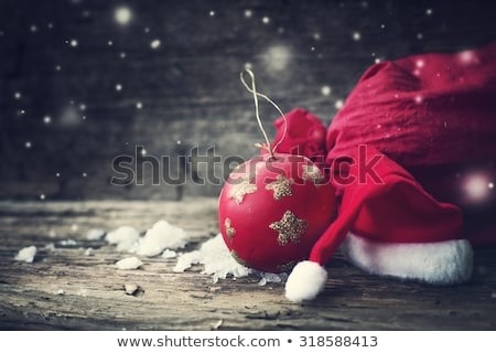 Colorful Christmas baubles on wood Stock photo © andreasberheide