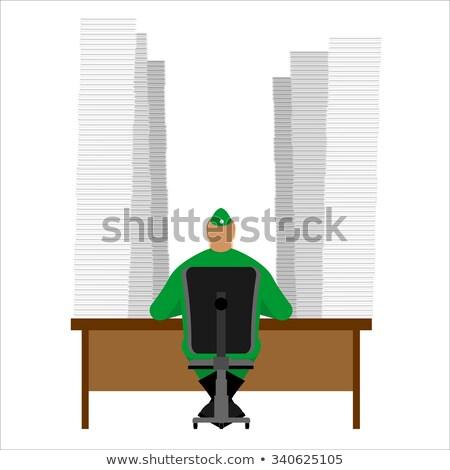 Elf tabel brieven assistent kerstman Stockfoto © popaukropa
