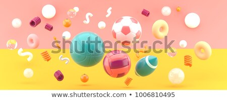Stock photo: 3D illustration of sport competition