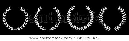 díjak · csészék · ikon · szett · fém · csillag · sziluett - stock fotó © studioworkstock