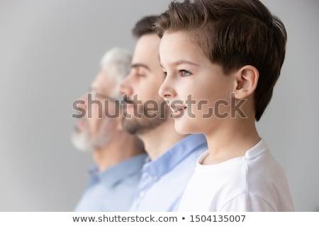 trzy · pokolenia · mężczyźni · człowiek · ojciec · mężczyzna - zdjęcia stock © is2