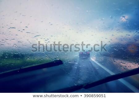 cam · bulanık · su · doku · pencere - stok fotoğraf © is2