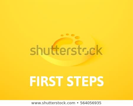 eerste · stappen · baby · stap · kind - stockfoto © sidmay