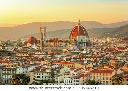 вечер · Флоренция · Италия · старые · дворец · ратуша - Сток-фото © givaga