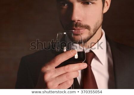 good wine hand with glass Stock photo © rogistok