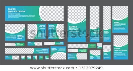 Fehér nyomtatott cég hirdetés sablon szett Stock fotó © romvo