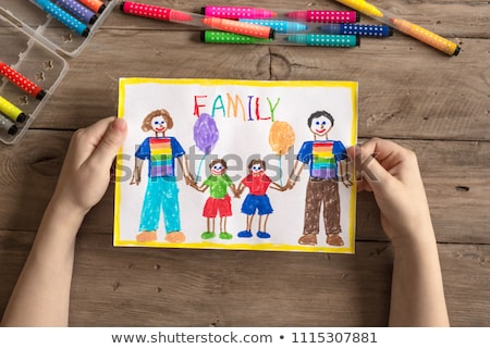 Feliz adoção família ilustração amor projeto Foto stock © bluering