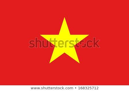 Vietnam bandera blanco diseno pintura arte Foto stock © butenkow