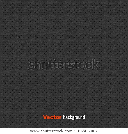 Vector dark gray perforated leather seamless texture. Realistic charcoal perforated background Stock photo © Iaroslava