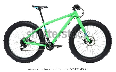 New blue bicycle with thick tires for snow ride isolated on a wh Stock photo © vlad_star