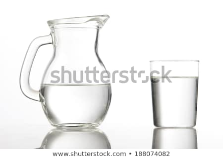 Carafe with water on a white background Stock photo © Zerbor