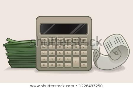 Calculator geïsoleerd witte achtergrond financieren Stockfoto © kravcs