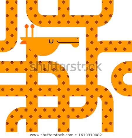 żyrafa wzór bezszwowy bestia długo szyi Zdjęcia stock © MaryValery