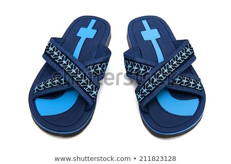 синий резиновые пляж лет ногу Сток-фото © magraphics