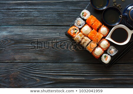 Philadelphia Sushi roll in a row stock photo © Cipariss