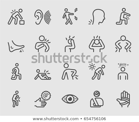 Foot Pain Human Body Illness Vector Illustration Stock photo © robuart
