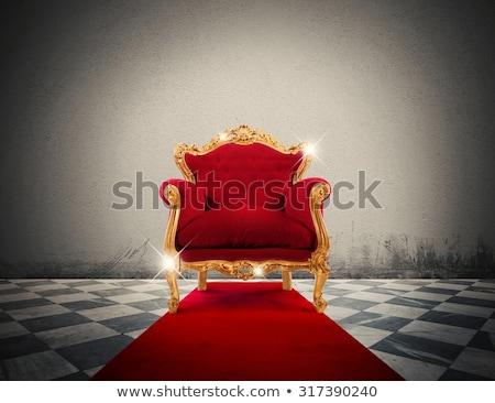 Piros arany luxus fotel csillog szoba Stock fotó © alphaspirit