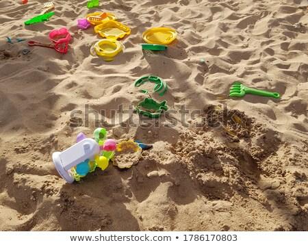 Kinderen speelgoed zandstrand strand baby natuur Stockfoto © dmitriisimakov