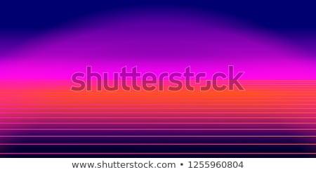 neon · horyzoncie · retro · 1980 · przyszłości · niebo - zdjęcia stock © robuart