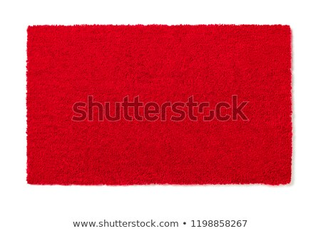 Blank Red Welcome Mat Isolated on White Background Ready For You Stock photo © feverpitch