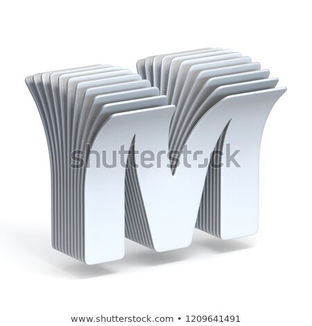 Curved paper sheets Letter M 3D Stock photo © djmilic