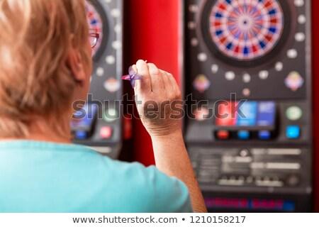 Rijpe vrouw achteraanzicht hand sport ouderen Stockfoto © Kzenon