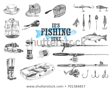 fishing tools and equipment vector illustration stock photo © robuart