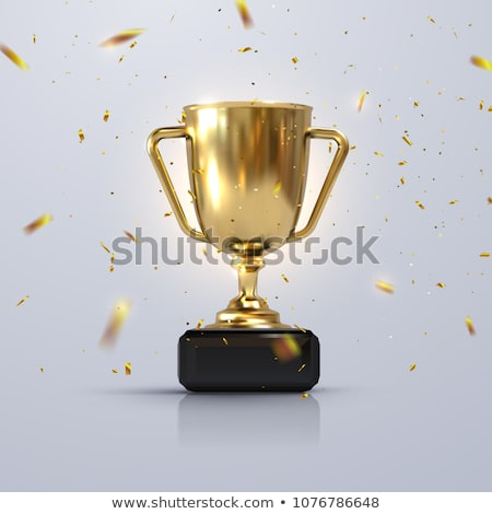 golden trophy cup for champion vector illustration stock photo © robuart